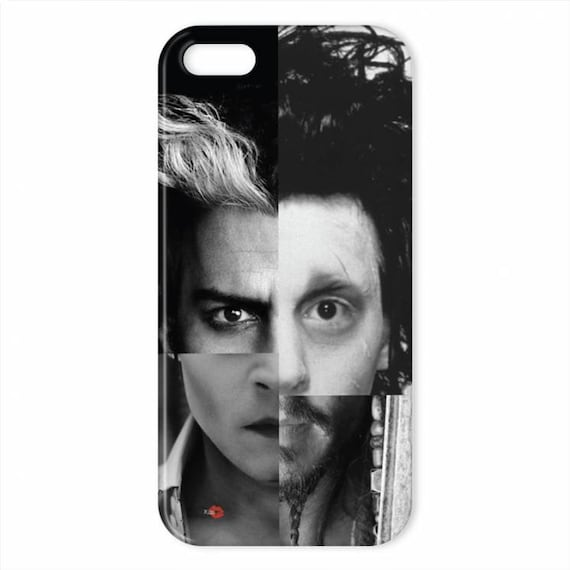 Depp Characters KiSS iPhone Case - Johnny inspired - Sweeney Todd, Edward Scissorhands, Dark Shadows, Jack Sparrow - Stocking Filler