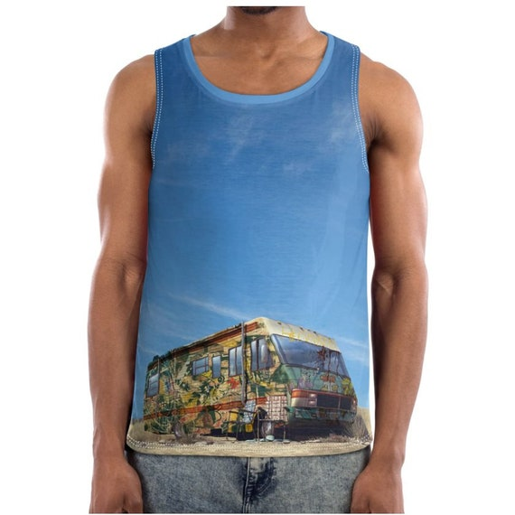 Breaking Bad Graffiti KiSS Basketball Vest - New Mexico RV Tv Show Inspired - Aaron Paul - Bryan Cranston - Birthday Present Heisenberg