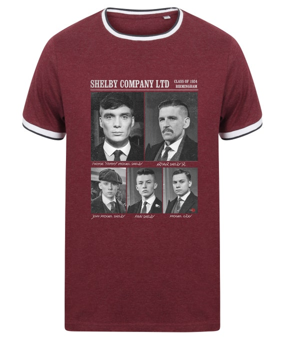 Shelby Gang Ltd KiSS Tipped T-Shirt - Peaky Blinders Inspired - Class of 1924 - By Order of the - Tommy, Arthur - UK TV Show Shirt - Poster