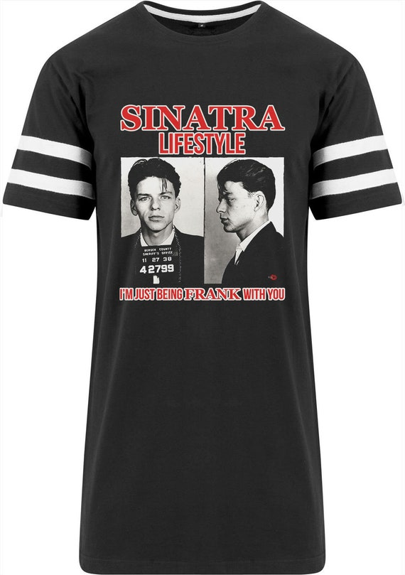 Frank Sinatra Lifestyle KiSS Stripe T-Shirt - Mugshot Arrest - Iconic Rat Pack - Unique item gift I'm Just Being Frank With You - Drake