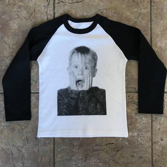 Home Alone KiSS KIDS Baseball T-Shirt - Macaulay Culkin - Kevin Christmas Movie - Baby/Toddler Cute Clothing