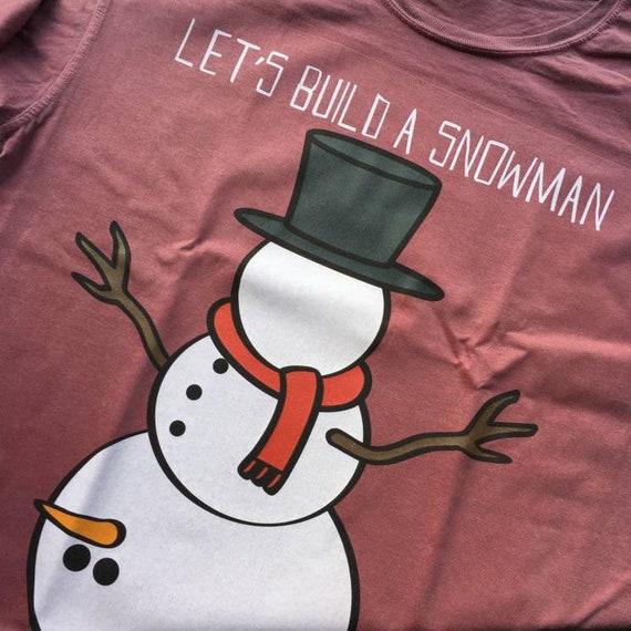 Rude Snowman KiSS T-Shirt - Christmas Winter theme - funny, cheeky - Snow, Carrot - Boy Humour