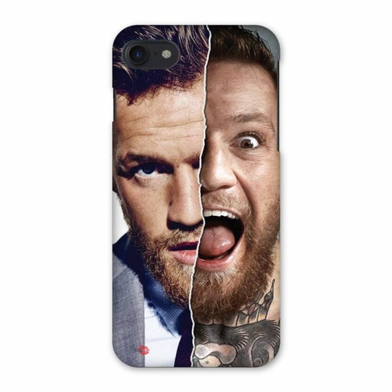Conor McGregor Split Face KiSS iPhone Case - The Notorious - MMA Fight - Ireland - Phone - Las Vegas - Christmas Present Idea Sports Fan