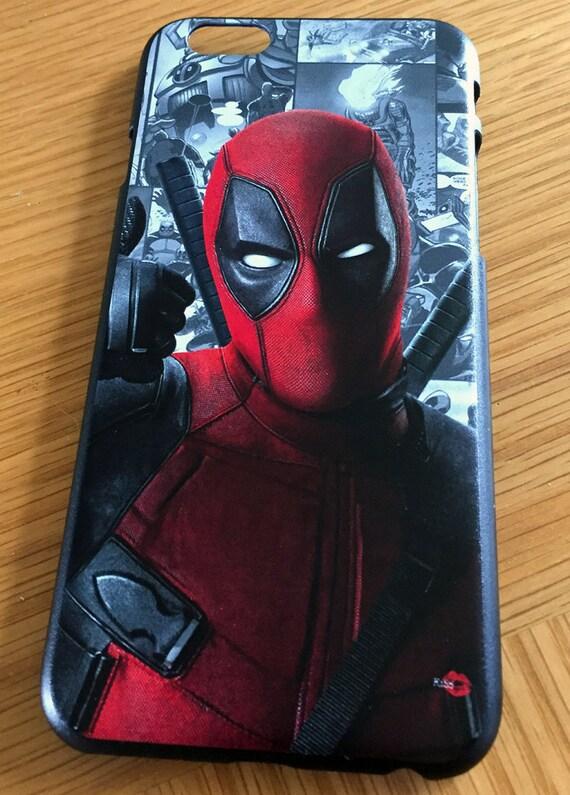 Deadpool KiSS iPhone Case - Wade Wilson - Ryan Reynolds, American Superhero - Funny Comic Book Hero
