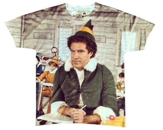 Elf KiSS Large Print T-Shirt - Will Ferrel - Buddy inspired - Throne of Lies - Christmas Shirt