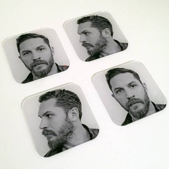 Tom Hardy Profile KiSS Coasters - Fans -  Warrior, Bane, Inception, Venom - Christmas or Birthday Valentines present idea - Stocking Filler