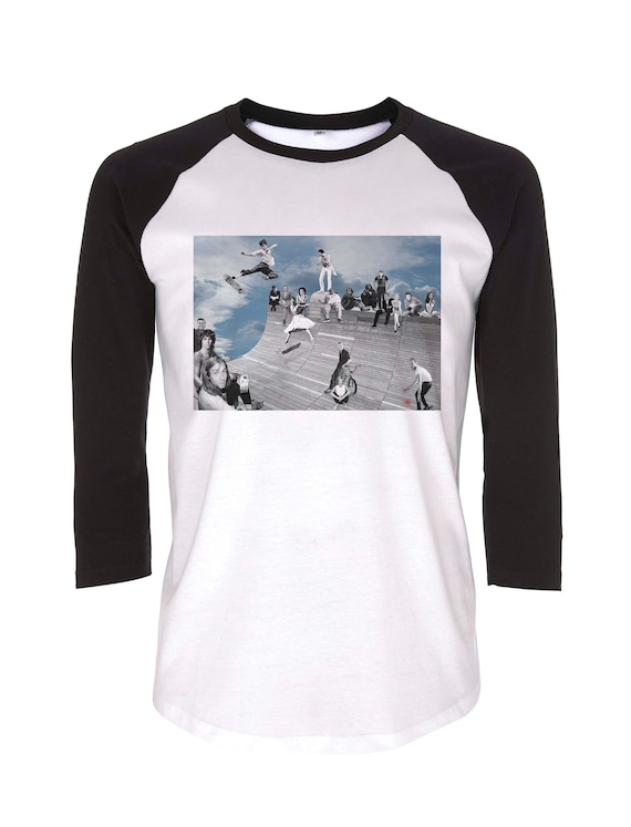 Halfpipe Heaven KiSS Baseball T-Shirt - Music TV Film skatepark icons - Gift idea for him and her