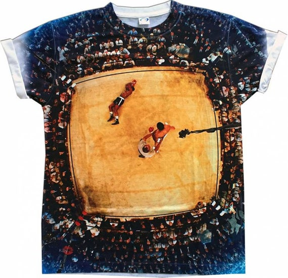 Ali Boxing Knockout KiSS All Over T-Shirt - Muhammad Ali Vs Liston - Iconic Sport - View - Gift, Father, Son, Uncle, Brother