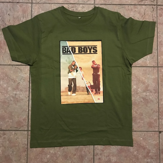 Bad Boys KiSS T-Shirt - Movie Poster inspired - What You Gonna Do, For Life - Will Smith Martin Lawrence - Film Fan - Gift Idea