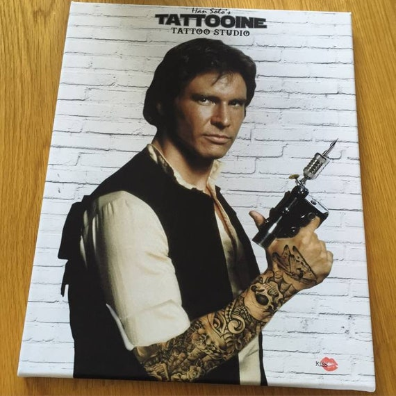 Han Solo Tattooine KiSS Canvas - Star Wars - The Empire - Force - Tattooing Tatooine - Harrison Ford Wall Decor