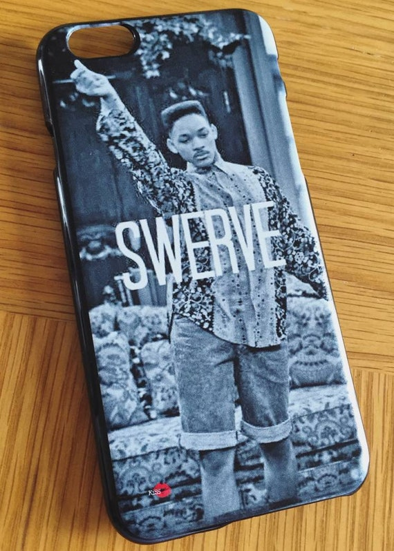 Fresh Prince Swerve KiSS iPhone Case - Will Smith - TV show 90s inspired - Bel Air - Gift