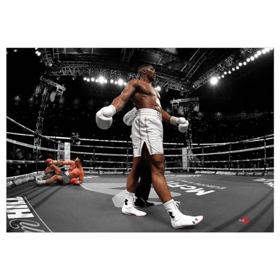 Joshua V Klitschko KiSS Canvas - Anthony Wladimir - Boxing wall Art - Home Decor, knockout - present gift idea for him - Stocking filler