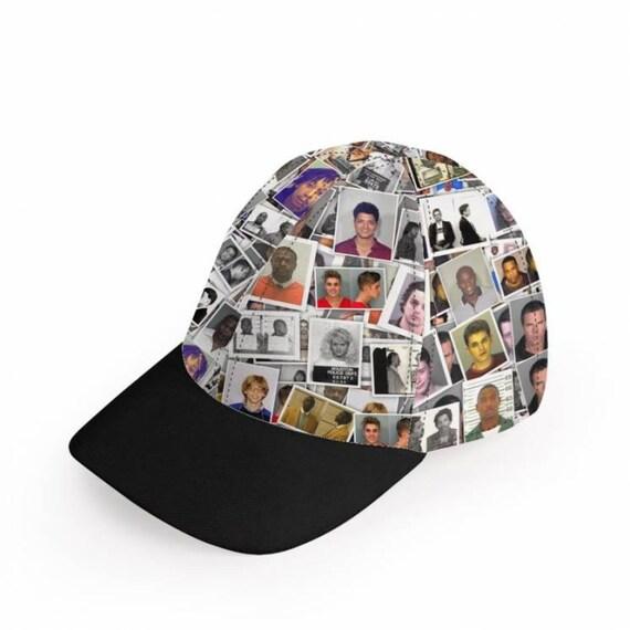 Celeb Mugshot KiSS Baseball Cap - Celebrity Arrest - Music Film TV star inspired - Lohan - Bieber - Tyson