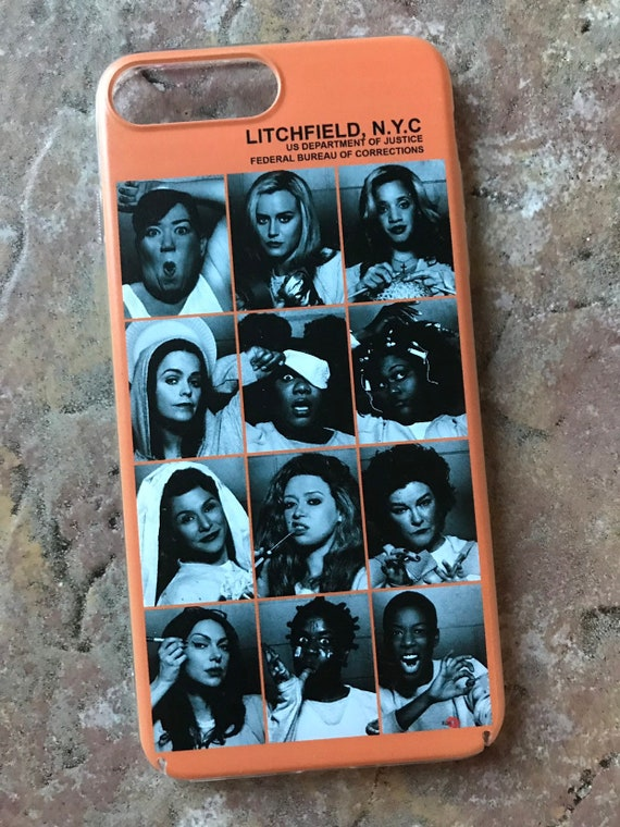 OITNB Inmates KiSS iPhone Case - Orange is the New Black - Piper & Alex, prison Litchfield - Christmas gift, stocking filler, Poussey