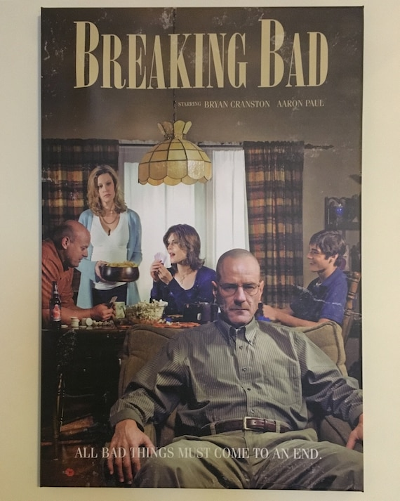 Breaking Bad Retro Style KiSS Canvas - TV Show inspired - Walter White, Jesse Pinkman - Gift Idea