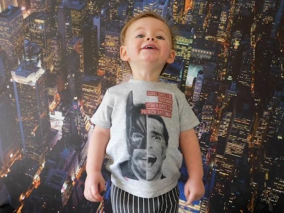 Batman Patrick Bateman KiSS Kids T-Shirt - American Psycho, Christian Bale - Funny Unique Toddler - Dark Knight - Movies darkest timeline