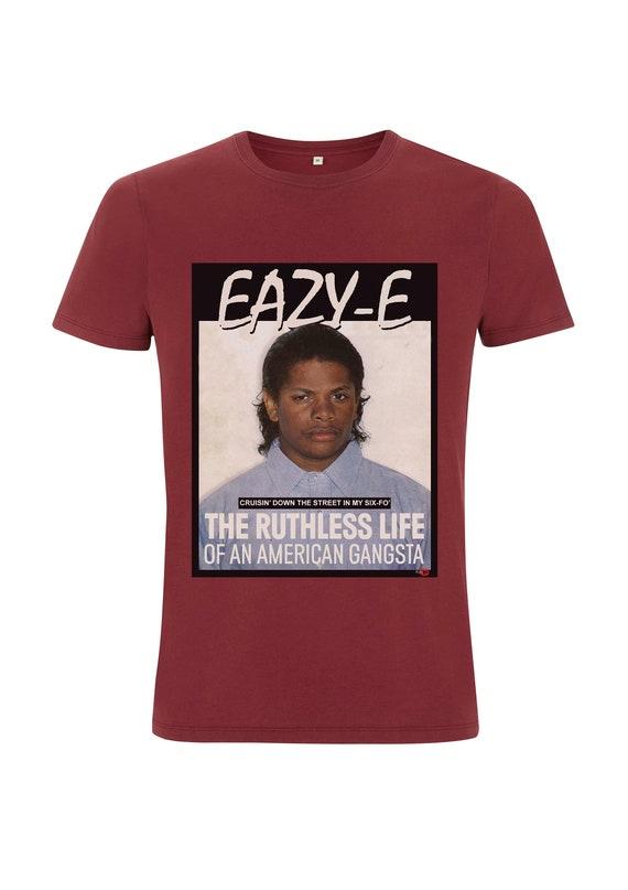 Eazy E KiSS T-Shirt - Gangsta Rapper - NWA inspired - 90s Urban - Music Fan Gift