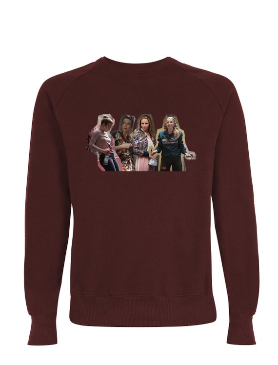 Villanelle x4 KiSS Sweatshirt - Killing Eve Inspired - Jodie Comer Tv Show - British Assassin - Black Comedy Dark Timeline Psycho