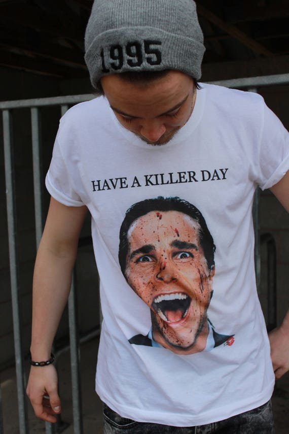 American Psycho KiSS T-Shirt - Killer Day - Halloween - Christian Bale - Gift Idea