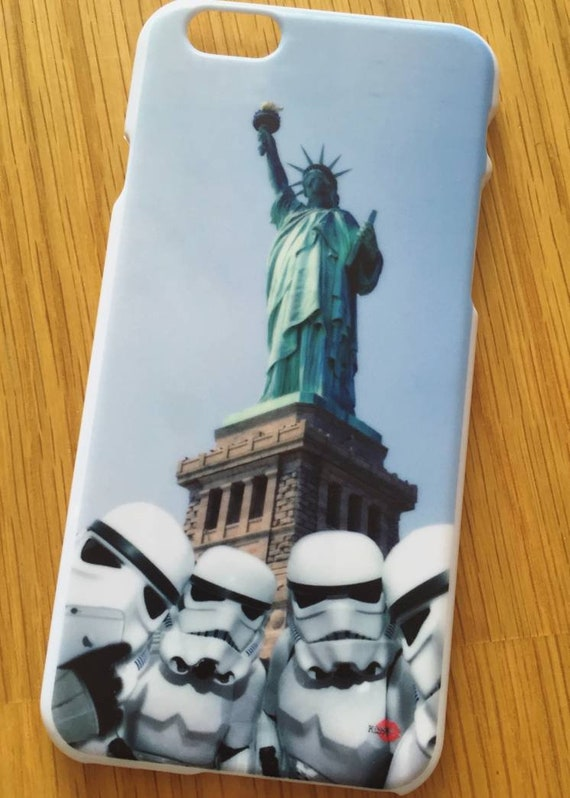 Stormtrooper Selfie KiSS iPhone Case - Star Wars - Statue of Liberty - Funny Phone Case - Stocking Filler