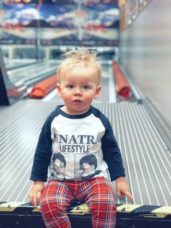 Frank Sinatra KiSS KIDS Baseball T-Shirt - I'm Just Being Frank With You - Drake Inspired - Frank Sinatra - Mugshot Cute top