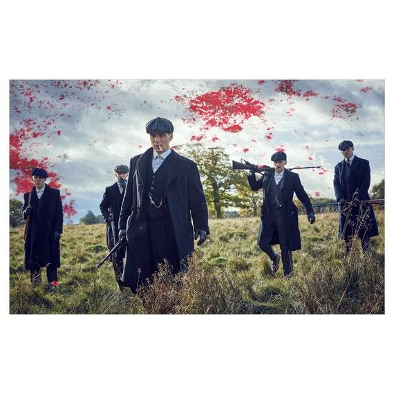Peaky Blinders Cast Tommy Shelby KiSS Canvas - Cillian Murphy UK TV Show - Arthur - Present/Gift Idea - Gangster - Wall Art
