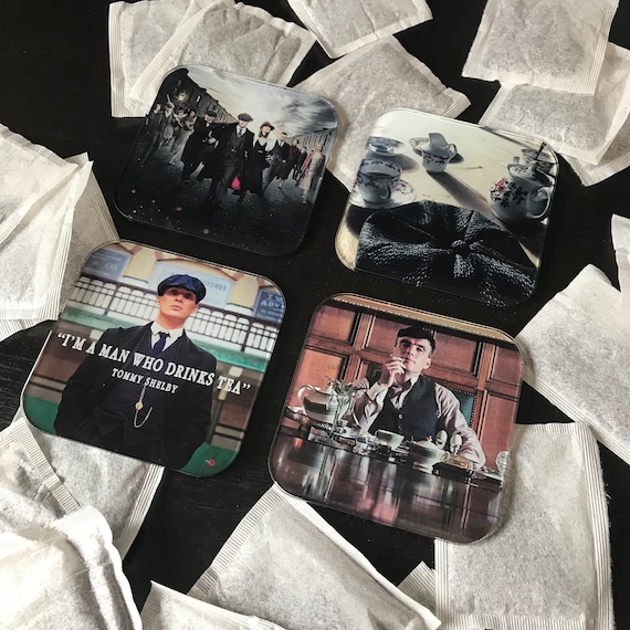 Tommy Shelby Tea Coasters - Cillian Murphy, UK TV Show Inspired - Smoking - Stocking Filler - Present/Gift Idea - Gangster - Peaky Blinders