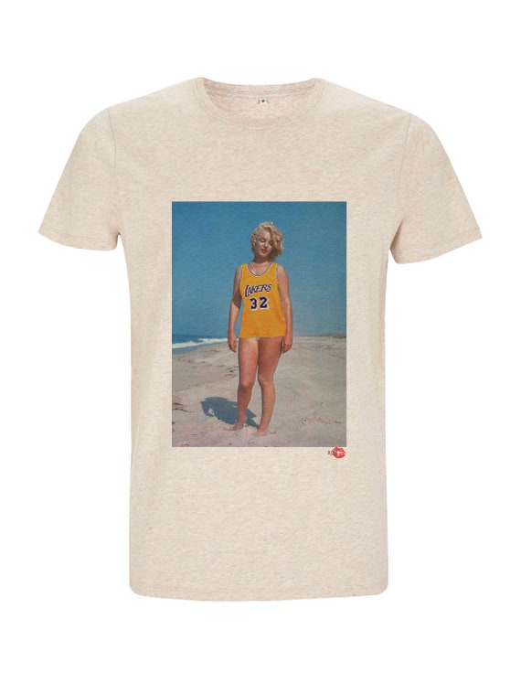 Marilyn Monroe Lakers Beach KiSS T-Shirt - Los Angeles Jersey inspired - Unique Edit - Sports Fan - Gift Idea - Christmas birthday present