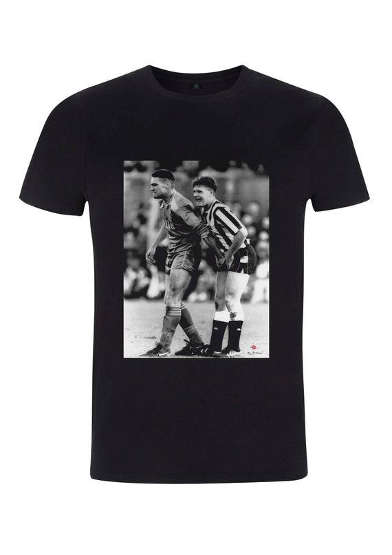 Gazza & Vinnie KiSS T-Shirt - Paul Gascoigne Vinnie Jones - Football Soccer - Leeds United - 90s footie fan