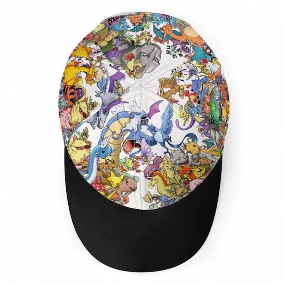 Poke KiSS Baseball Cap - Pokemon inspired - Pikachu - Charizard - Blastoise - Charmander Squirtle - Ash Pokeball - Gameboy
