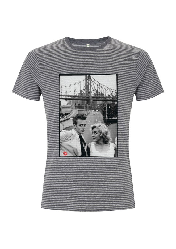James Dean & Marilyn Monroe KiSS T-Shirt - Hollywood New York - Icons - Unique Art - Gift idea