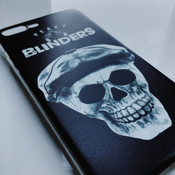 Peaky Blinders KiSS iPhone Case - Tommy Shelby inspired - Skull - Unique Art Cillian Murphy, UK TV Show Stocking Filler - Present/Gift Idea