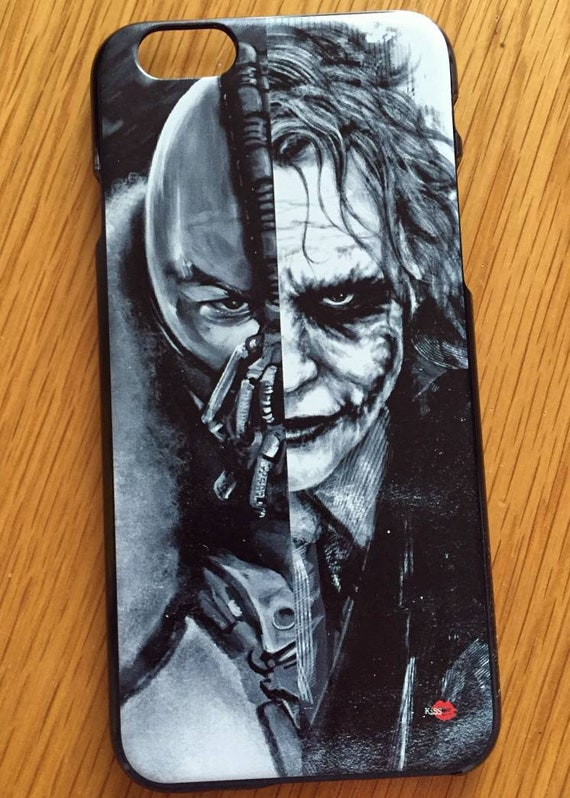 Bane Joker KiSS iPhone Case - Dark Knight - Heath Ledger Tom Hardy - Rises, Movie, Gift Idea