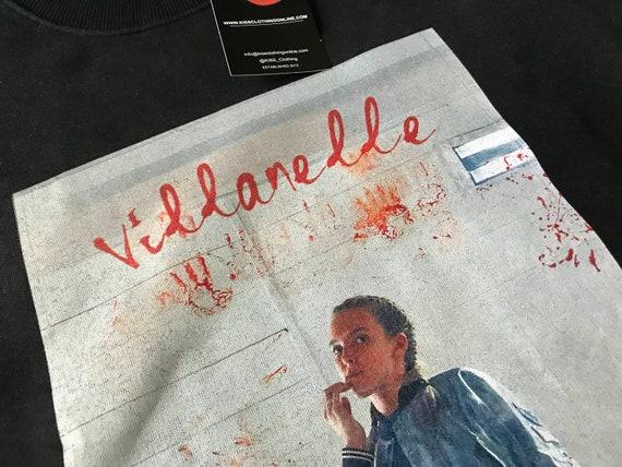 Villanelle KiSS Sweatshirt - Killing Eve Inspired - Jodie Comer Tv Show - British Assasain - Black Comedy Dark Timeline