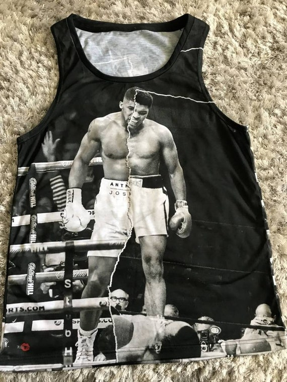 Muhammad Ali/Anthony Joshua KiSS Basketball Vest - half & half - Boxing knockout - father's day Gift Idea - Sports
