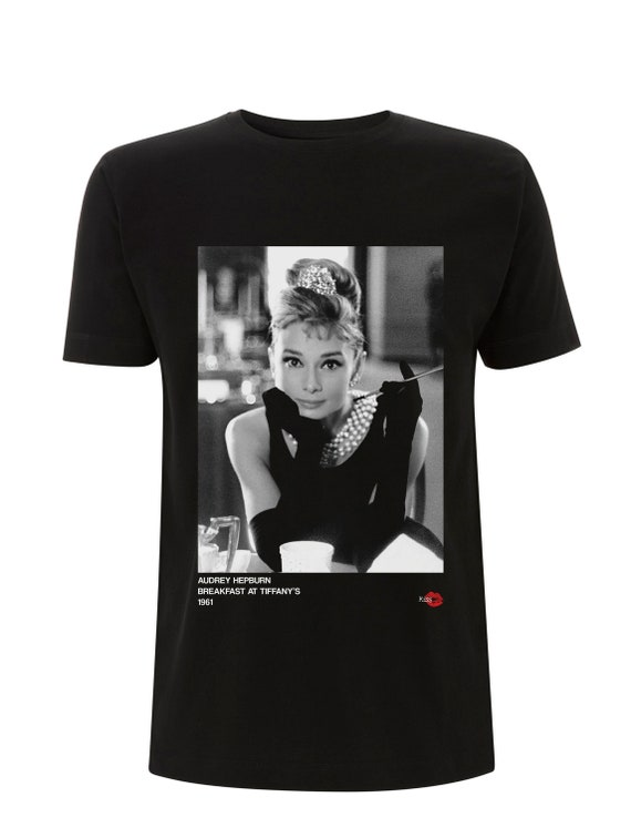 Audrey Hepburn 1961 KiSS T-Shirt - 60s Movie - Hollywood Actress Vintage - Breakfast at Tiffany's inspired - Gift Idea