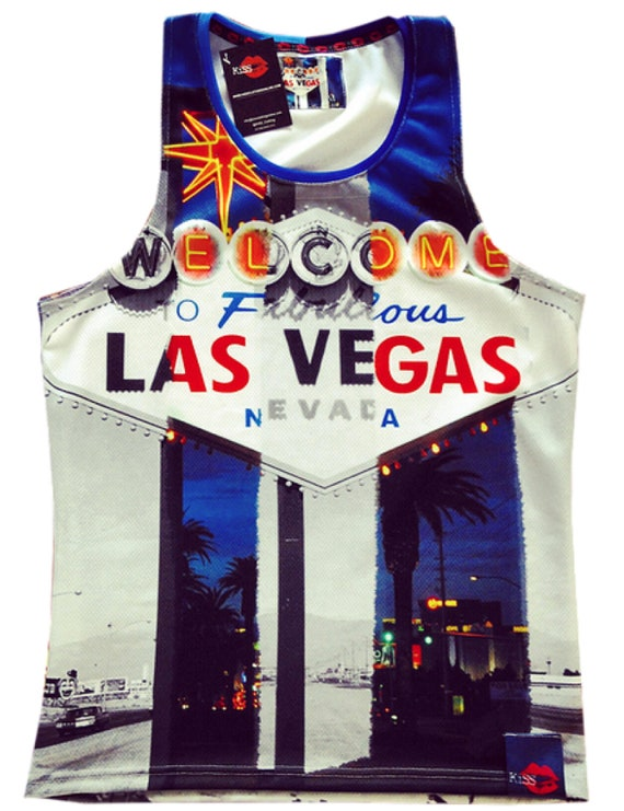 Las Vegas Then & Now KiSS Basketball Vest - Old V New - USA America Retro and Modern