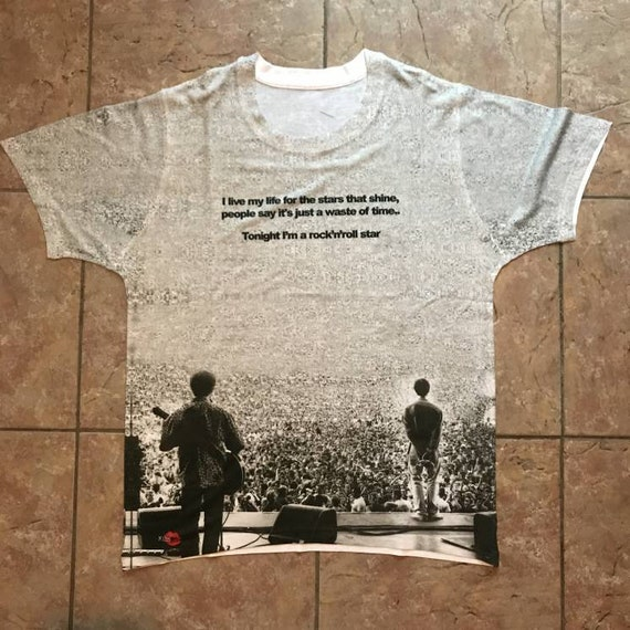 Rock N Roll Star Lyric KiSS All Over T-Shirt - Oasis Inspired - Maine Road - What's The Story - Indie Music