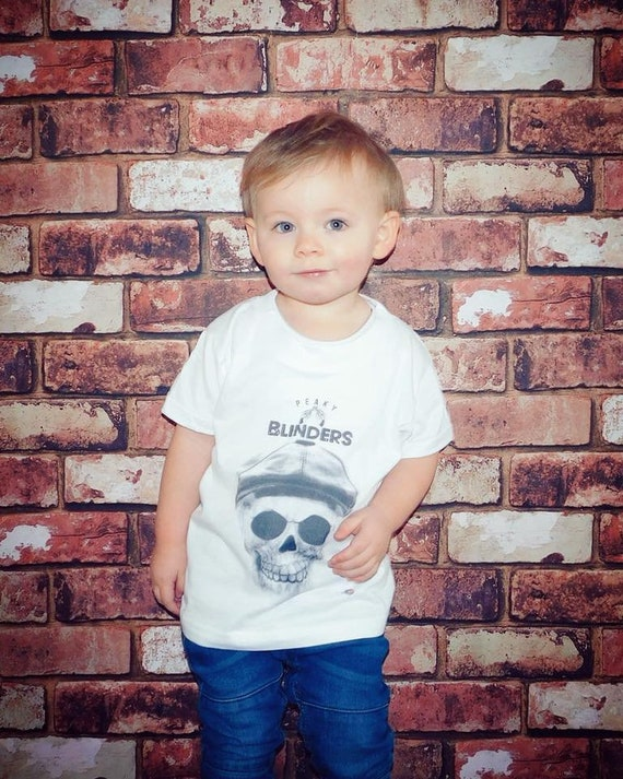 Peaky Blinders Skull KiSS KIDS T-Shirt - Tommy Shelby inspired - Skull - Kid Cillian Murphy, UK TV Show Stocking Filler - Present/Gift Idea