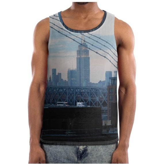 New York Brooklyn Sunset KiSS Basketball Vest - City Manhattan Skyline - Cool Skyscraper Empire State