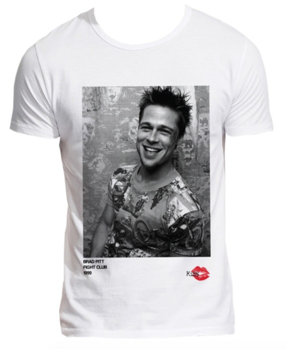 Brad Pitt 1999 KiSS T-Shirt - Fight Club movie inspired - Tyler Durden Ed Norton - 90s Iconic - Gift idea