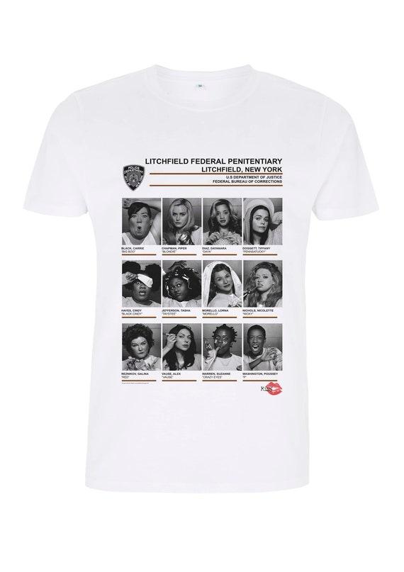 Orange Is the New Black OITNB Inmates Prison KiSS T-Shirt - Vauseman Poussey, Alex Vause Piper Chapman, Laura Prepon, Taylor Schilling