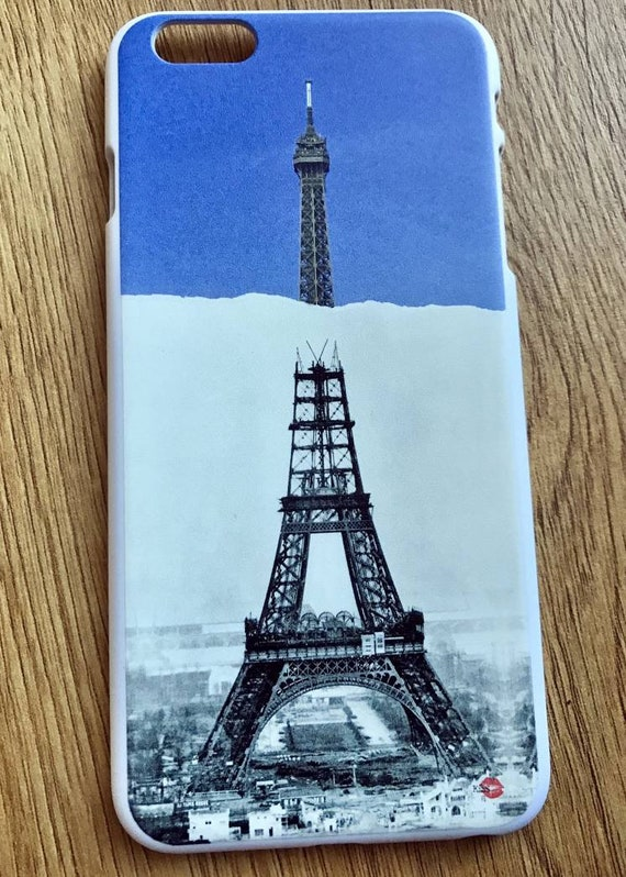 Eiffel Construction KiSS iPhone Case - Paris France - Then and Now - Building Iconic - Gustavo - Stocking Filler