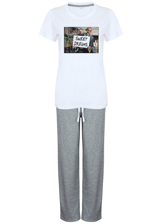 Idris Elba Pyjamas Sweet Dreams Women's KiSS Set - Gift - Choose Shorts / Trousers - Christmas / Birthday Present - Luther Fans - Valentines