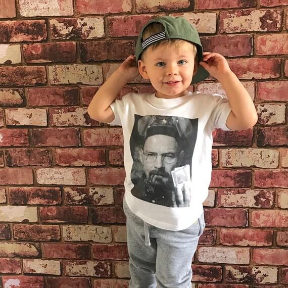 Bad Walter KiSS Kids T-Shirt - Breaking Bad show inspired - White Pinkman - Money Cook Meth - Toddler Birthday Gift Cute Christmas