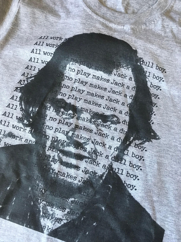 Jack The Shining Kiss T Shirt Jack Nicholson All Work No Play