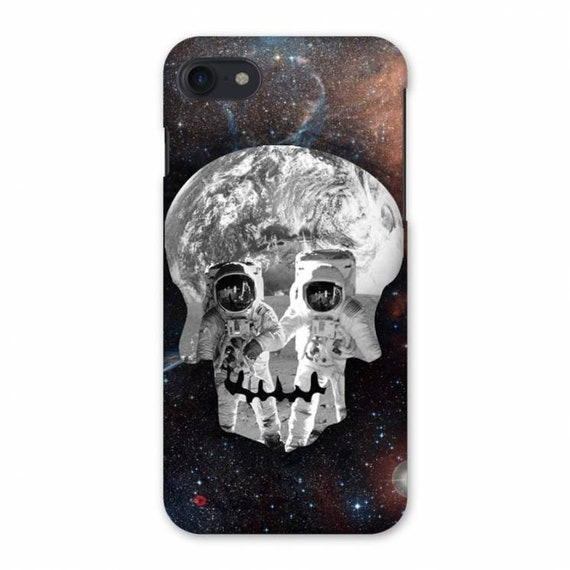 Astronaut Skull KiSS iPhone Case - Space - Spaceman Skulls - Unique Design - Stocking Filler