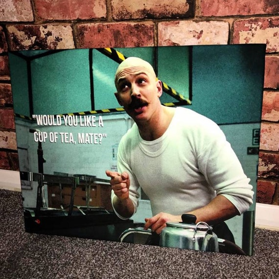 Charles Bronson Tea KiSS Canvas - Tom Hardy - Prison, Movie Scene - Wall Art, Home Decor - Unique Gift Idea Valentines
