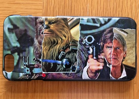 Chewy/Han KiSS iPhone Case - Han Solo Chewbacca - Chewie - Star Wars inspired- Then & now - Harrison Ford - Gift Idea, bromance - The Empire