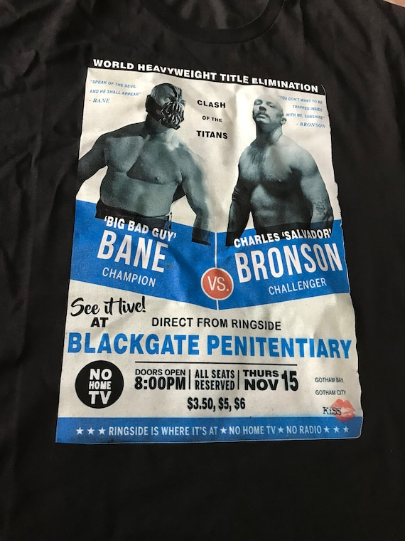 Bane Vs Charles Bronson KiSS T-Shirt - Tom Hardy - boxing fight movie - Unique gift idea